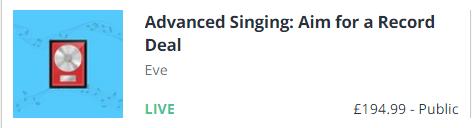 advanced singing promo pic